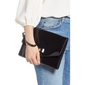 TED BAKER Verai Black Bow Detail Envelope Pouch
